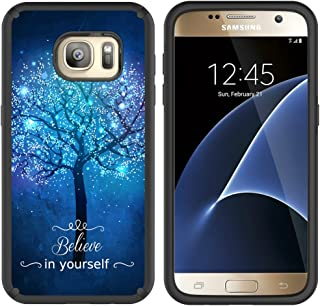 S7 Case, Galaxy S7 Case, MagicSky Slim Corner Protection Shock Absorption Hybrid Dual Layer Armor Defender Protective Case Cover for Samsung Galaxy S7 (Believe in Yourself)