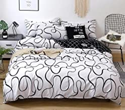 CLJKJDS Circular Pattern Digital Printing Polyester Bed Flat Sheet With Pillowcase Print Bedding Set Bed sheet (Color : Cl...