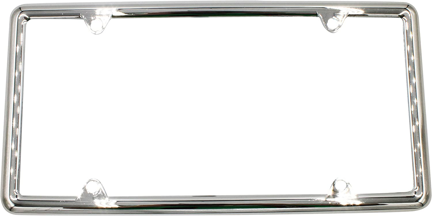 Year-end gift JWYN Chrome Plastic Very popular 4-Hole License Plate of - Pack Frame 1