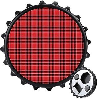 Röd låda flasköppnare ett lock mångsidig ölflasköppnare, möbler kylskåp dekoration klistermärke