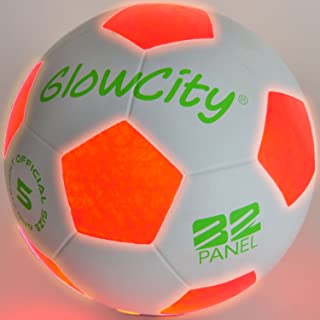 GlowCity Light Up LED Soccer Ball - Uses 2 Hi-Bright LED...