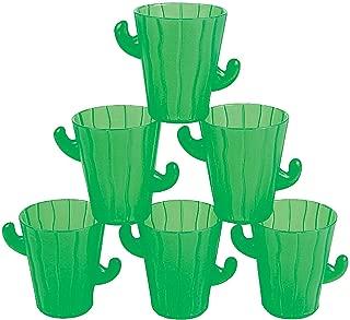 Fun Express - Plastic Cactus Shot Glasses for Cinco de Mayo - Party Supplies - Drinkware - Shot Glasses - Cinco de Mayo - 12 Pieces