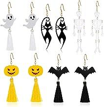 Miraculous Garden Halloween Theme 5 Pairs Halloween Earrings Halloween Jewelry Set Gifts for Women Girls.