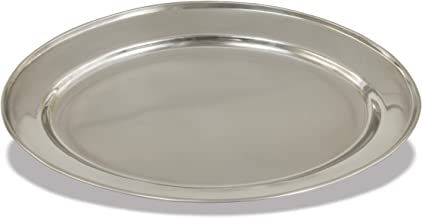 Crestware OVT12 Stainless Steel Oval Serving Tray, 12-Inch