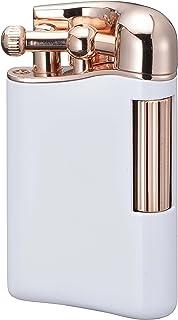 【SAROME限定品】 フリント ガス ライター ガス抜き ピアノホワイト/ローズゴールド0.2μ PSD12LE-06