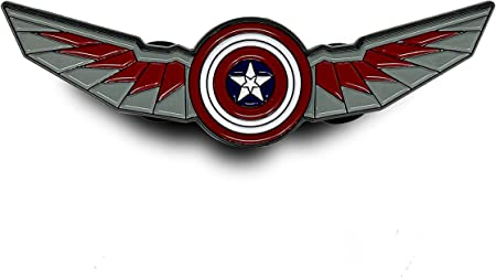 The Falcon Wings w/Captain America Shield PIN - 官方 Marvel Disney+ The Falcon and The Winter Soldier 翻领 PIN