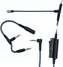 Boom Microphone Universal Volume for gaming PS4 Xbox One PC Laptop iphone Android phone to Sennheiser HD598 HD558 HD518 Audio-Technica ATH-M50x ATH-M40x ATH-M70x Headphone with 2.5mm jack(150CM-Black)