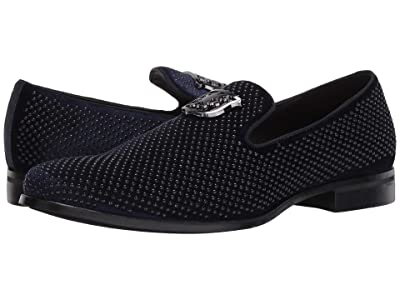 Stacy Adams Swagger Studded Ornament Loafer (Navy) Men