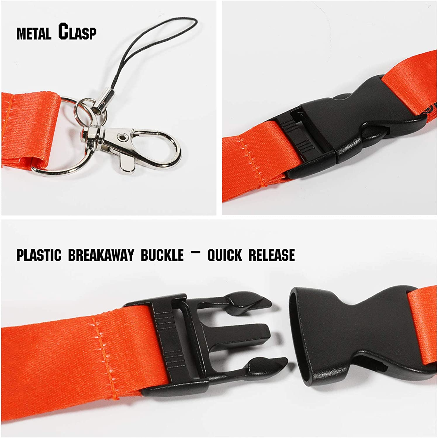 Sport Lanyard Neck Lanyard Strap for Key Chains//ID Holder//Phones//Bags//Accessories with Quick Release Buckle/—3 Packs