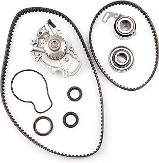 Timing Belt Water Pump Kit ECCPP TBK244 for Honda Accord Odyssey Acura CL Isuzu Oasis 2.2L 2.3L L4 SOHC 16 Valves Engine F22B1 F23A1 F23A4 F23A5 F23A7 (timing belt kit with water pump)