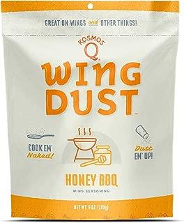 Kosmos Q Honey Barbecue Wing Dust | Chicken Wing Seasoning | Dry BBQ Rub Spice | 6 oz. Bag