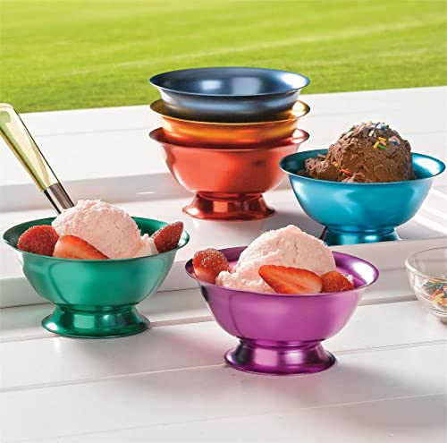 high quality Aluminum Ice lowest Cream Bowls - new arrival Set of 6 online
