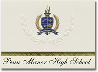 Signature Announcements Penn Manor High School (Millersville, PA) Graduation Announcements, Presidential style, Basic pack...