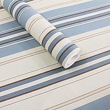 HIZLJJ Wallpaper removable wallpaper Minimalist Stripe Pattern Self-Adhesive Removable Wood Peel and Stick Wallpaper Decor...