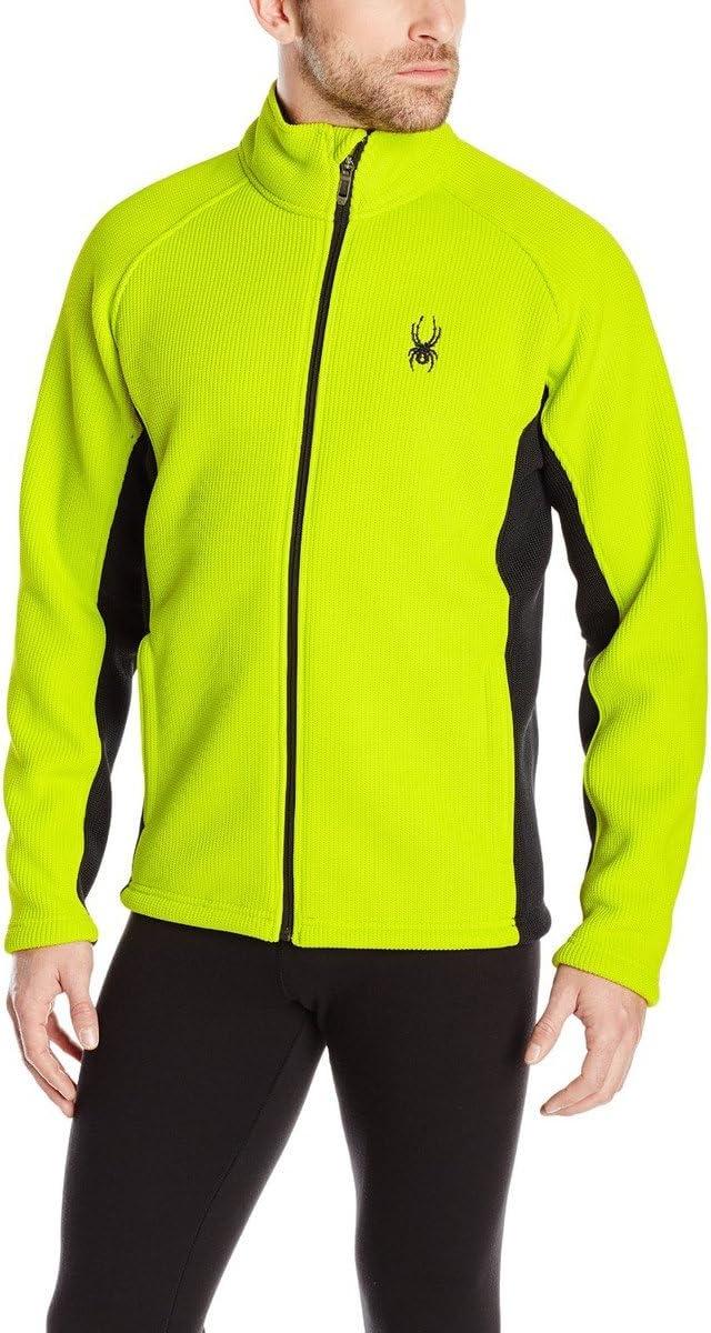 Spyder Men/'s Foremost FFB Mock Neck Zip complet mi-lourds Fleece Line vestes NOUVEAU!!