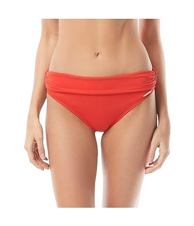 Vince Camuto Riviera Solids Convertible High-Waist Bikini Bottom (Poppy) Women