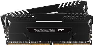 Corsair Vengeance LED - Kit de Memoria Entusiasta de 16 GB (2 x 8 GB, DDR4, 3000 MHz, C15, XMP 2.0) Negro con Blanco LED iluminación