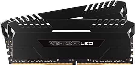 CORSAIR VENGEANCE LED 16GB (2x8GB) DDR4 3000MHz C15 Desktop Memory  - White LED