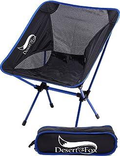 DesertFox アウトドアチェア 折りたたみ 超軽量【耐荷重150kg】コンパクト イス 椅子 収納袋付属 お釣り 登山 携帯便利 キャンプ椅子