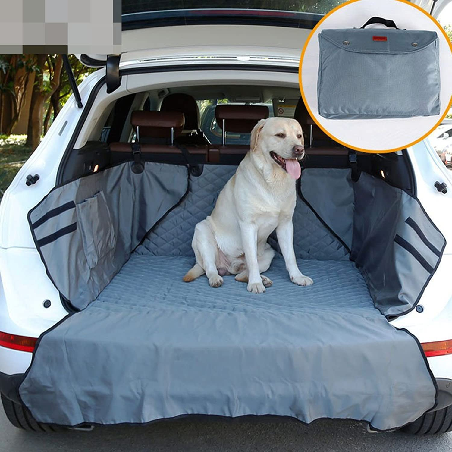 Cargo Liner Cover for SUVs and Cars, Pet Dog Car SUV Seat Cover with Pockets,Waterproof,Non Slip Backing, Extra Bumper Flap Predector,900D Nylon Oxford Fabric