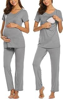 Cotton Nursing/Labor/Delivery Maternity Pajamas Set for Hospital Home, Basic Nursing Shirts, Pregnancy Pants