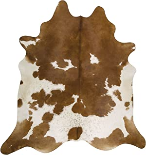 RODEO Pure Brown& White Superior Cowhides Rug 5x7ft 150cmx210cm