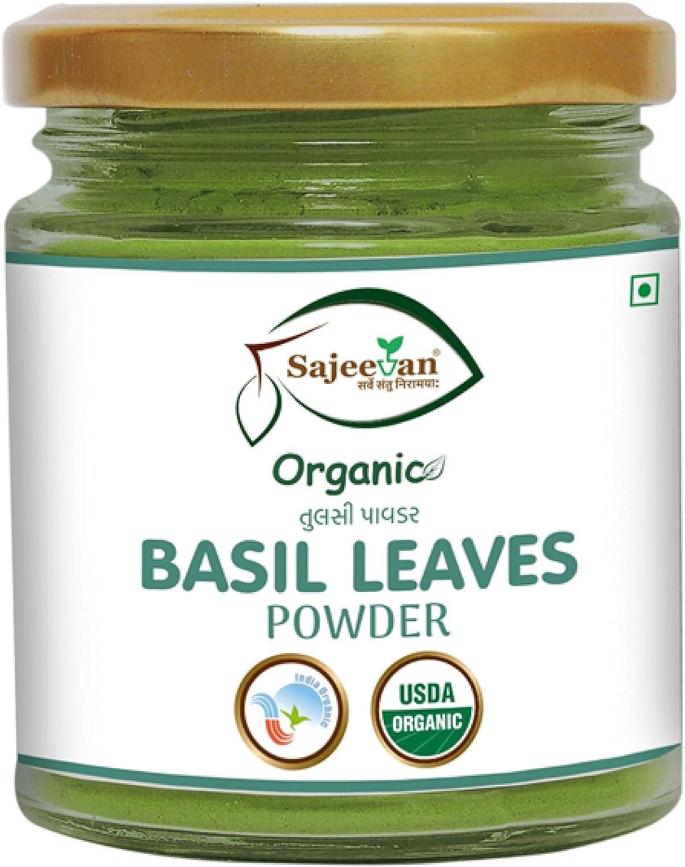 USDA Organic Ocimum tenuiflorum Max 44% OFF - Nippon regular agency holy ---Ã Basil Powder Leaves