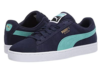 PUMA Suede Classic (Peacoat/Blue Turquoise/Puma White) Shoes