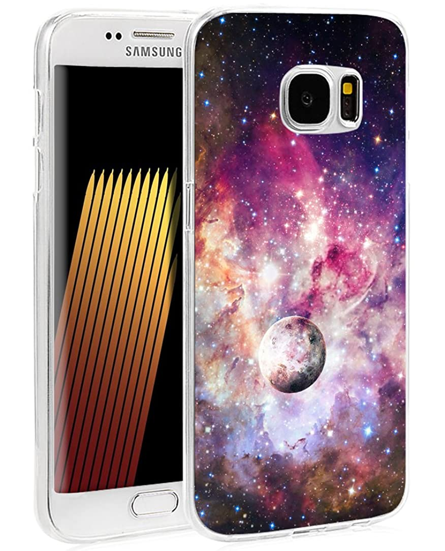 S6 Case Nebula - Case for Galaxy S6 - Protector Cover Compatible for Samsung S6 - Galaxy Sky View Pink (Slim Flexible TPU Protective Silicone)