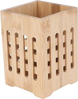PIXNOR Support à ustensiles en bambou pour baguettes et couverts, porte-couverts, cuillères, couteaux, fourchettes, organi...