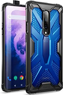 OnePlus 7 Pro Case, Poetic Premium Hybrid Protective Clear Bumper Cover, Rugged Lightweight, Military Grade Drop Tested, Affinity Series, for OnePlus 7 Pro (2019), Cobalt Blue