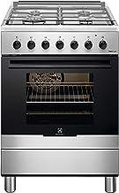 Electrolux RKK61380OX - Cocina eléctrica con 4 fuegos de gas, horno eléctrico multifunción ventilado, clase A, dimensiones 60 x 60 cm, color negro