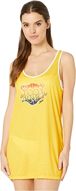 Rainbow Brights Tank Dress Cover-Up