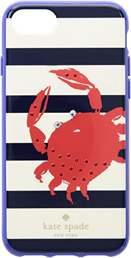 Kate Spade New York - Jeweled Stripe Crab Phone Case for iPhone® 8
