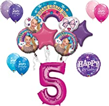 JoJo Siwa 5th Birthday Party Large Decoration Balloon Bundle, for 5 Year Old