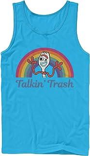 Toy Story Men's 4 Forky Talkin' Trash Rainbow Tank Top