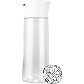 Whiskware, shaker per condimenti con palla emulsionante BlenderBall in fil di ferro Tritan 590 ml White