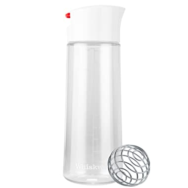 Whiskware Dressing Shaker with BlenderBall Wire Whisk, Tritan - , White