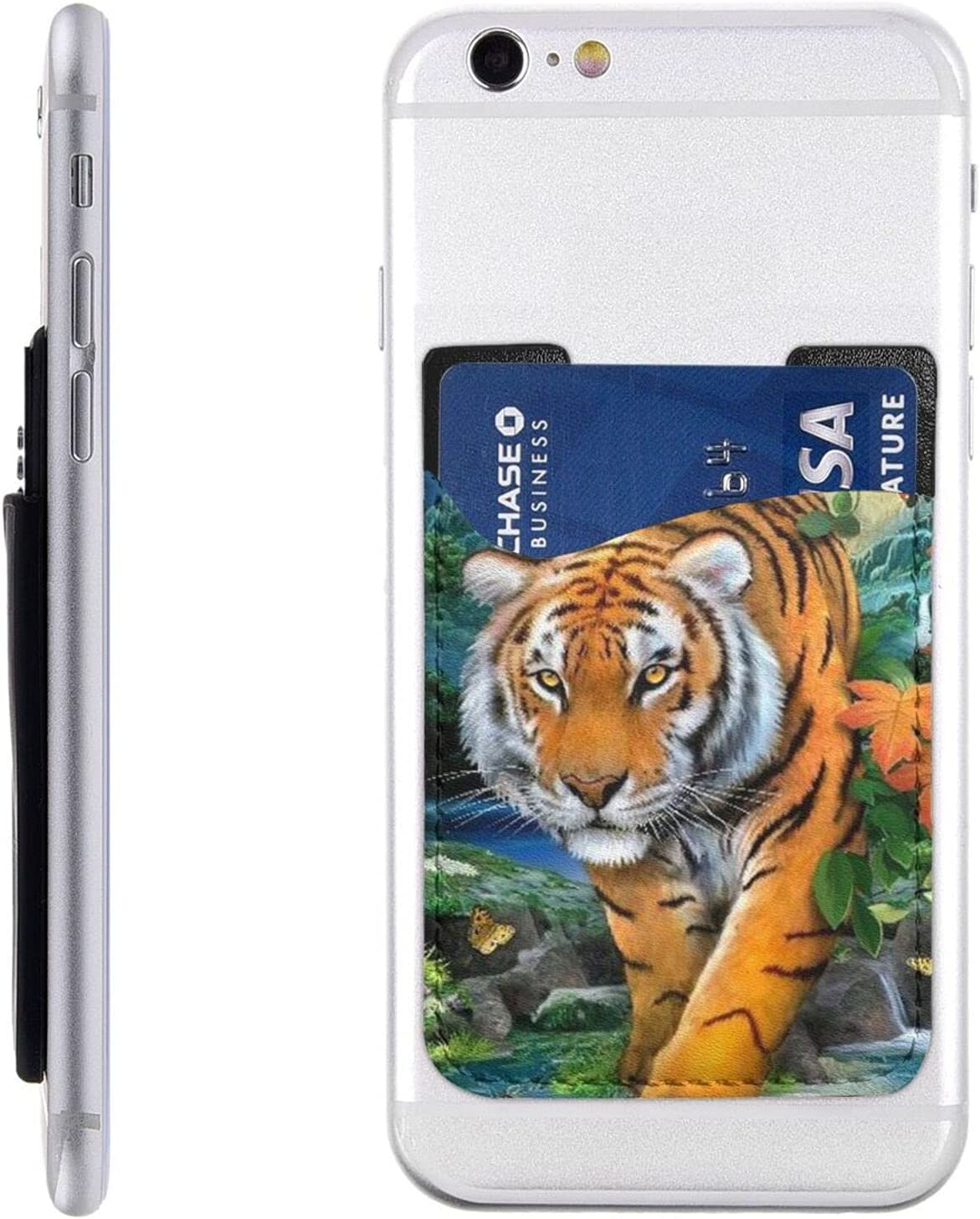 Tiger Phone Card Elegant Holder Cell M Wallet Sleeve Stick NEW before selling ☆ On