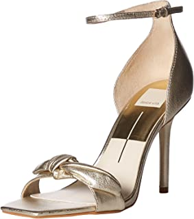 Dolce Vita Women's HELANA Heeled Sandal, LT Gold Leather, 8.5 M US