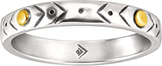 Silpada 'Varied Details' Etched Band Ring in Sterling Silver & Brass