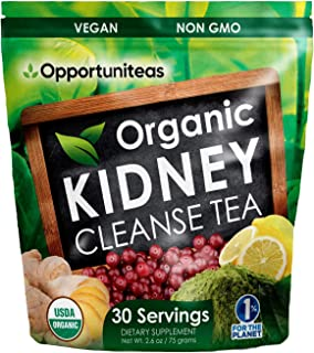 Organic Kidney Cleanse Tea - Matcha Green Tea, Cranberry, Lemon & Ginger - 4 Cleansing Superfoods For Drink, Shake, or Smo...