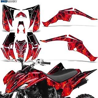 Yamaha Raptor 350 2004-2014 Decal Graphic Kit Quad ATV Sticker Deco Racing Parts FLAMES ORANGE