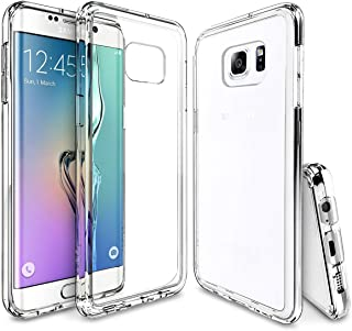 ULAK Transparent Case Compatible with The Samsung Galaxy S6 Edge Plus 5.7-Inch (2015) – Slim, Lightweight, Soft TPU Bumper, Scratch-Resistant [Clear]