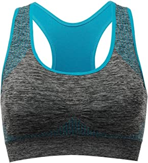 13065bcf4d9 TOBWIZU Racerback Sports Bra - Choose Color   Size - Padded Seamless for  Women Pocket Yoga