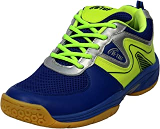 B-TUF Passion Badminton Shoes Unisex (Non Marking) (Blue/Green)