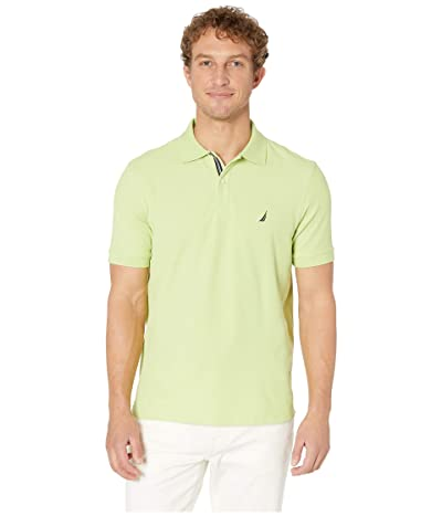 Nautica Short Sleeve Solid Performance Deck Polo (Mist Green) Men