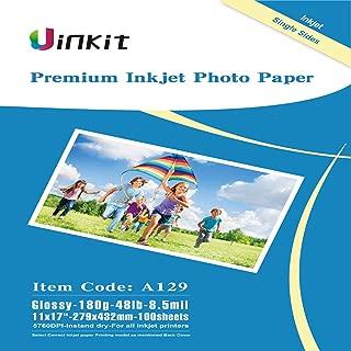 Glossy Photo Paper 11x17 13x19 - Uinkit Inkjet Paper 8.5Mil 180G Inkjet Printing Only (279432mm)