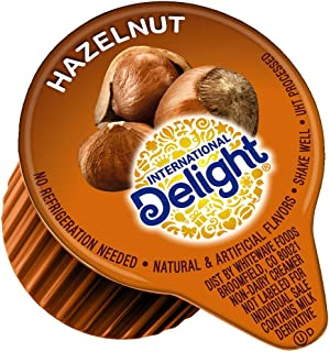 International Delight, Hazelnut, Single-Serve Coffee Creamers, 288 Count (Pack of 1), Shelf Stable Non-Dairy Flavored Coffee Creamer, Great for Home Use, Offices, Parties or Group Events
