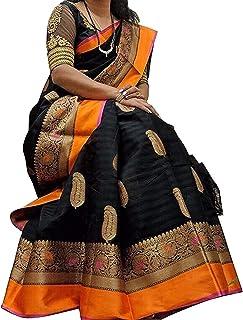 Anni Designer Women's Black Color Art Silk Saree With Blouse
